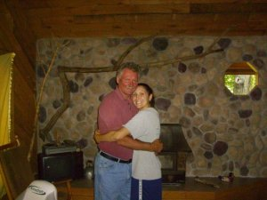 me and dad cabin