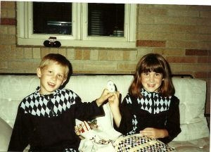 me and Craig six years old